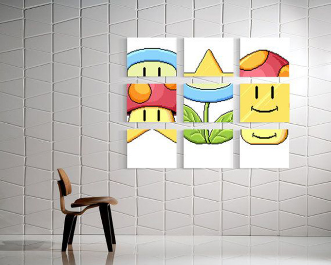 décoration, geek, nerd, informatique, starwars, space invader, lego, mario, pacman, gamer, chic, classe, tetris
