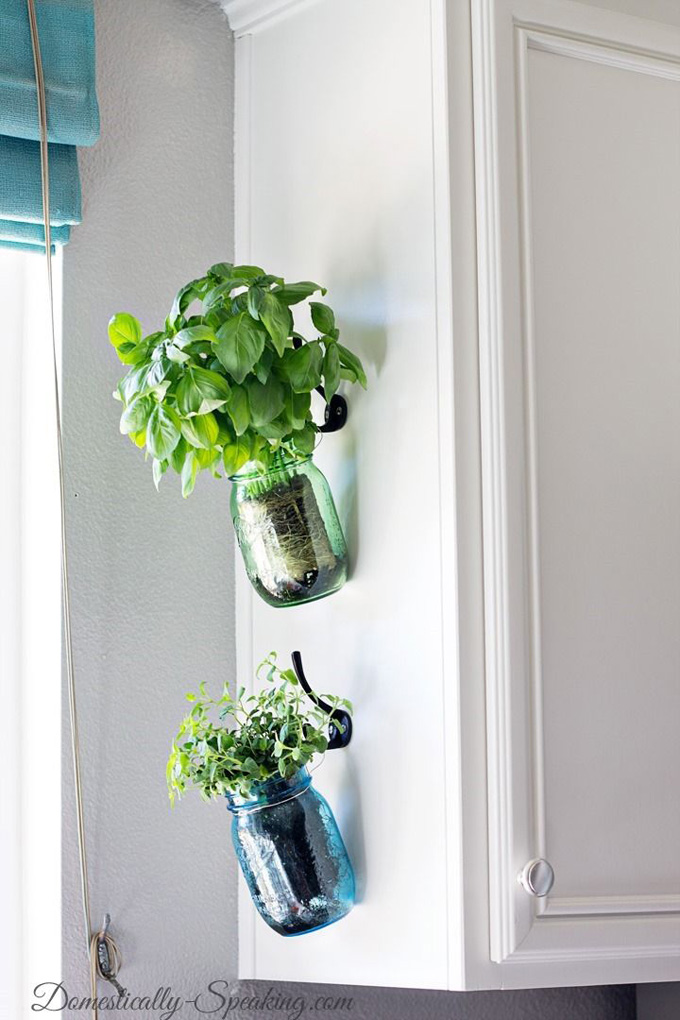 D tournement de bocaux en verre en d coration mes - How to hang plants in front of windows ...