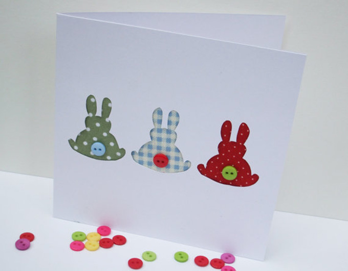 selection, carte postale, paques, papeterie, oeufs, easter, lapin, poule, origami, etsy