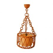 Suspension vintage en rotin