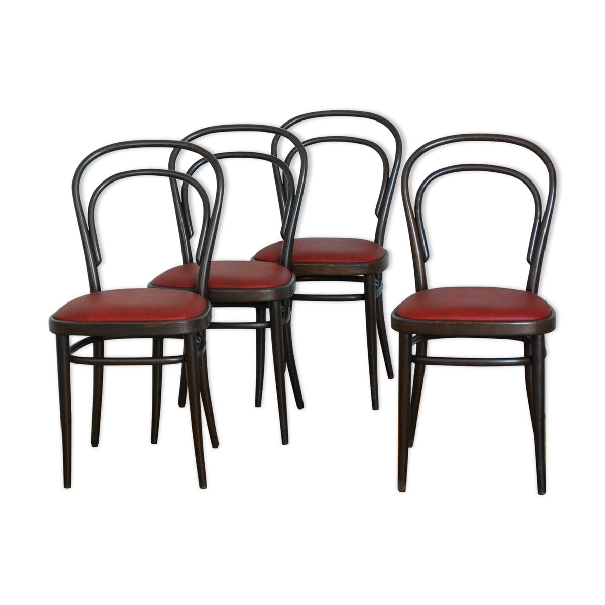 lot de 4 chaises bistrot thonet mes petites puces. Black Bedroom Furniture Sets. Home Design Ideas